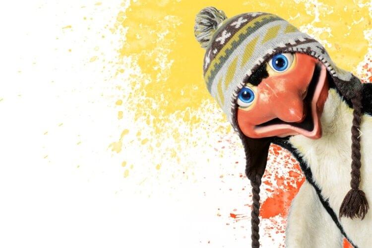 Handpuppe Pinguin