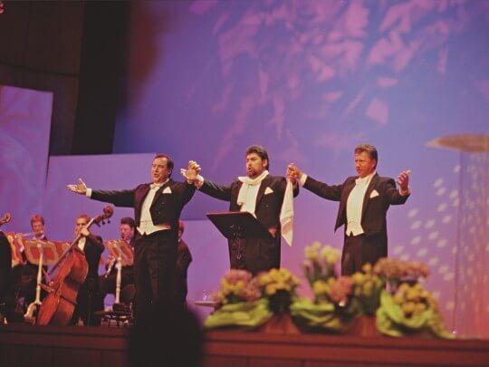 Drei Tenöre auf der Bühne
