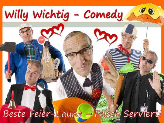 Künstlervermittlung: Comedian Willy Wichtig in verschiedenen Rollen Frankfurt - Künstleragentur | DIE ALLESLÖSER