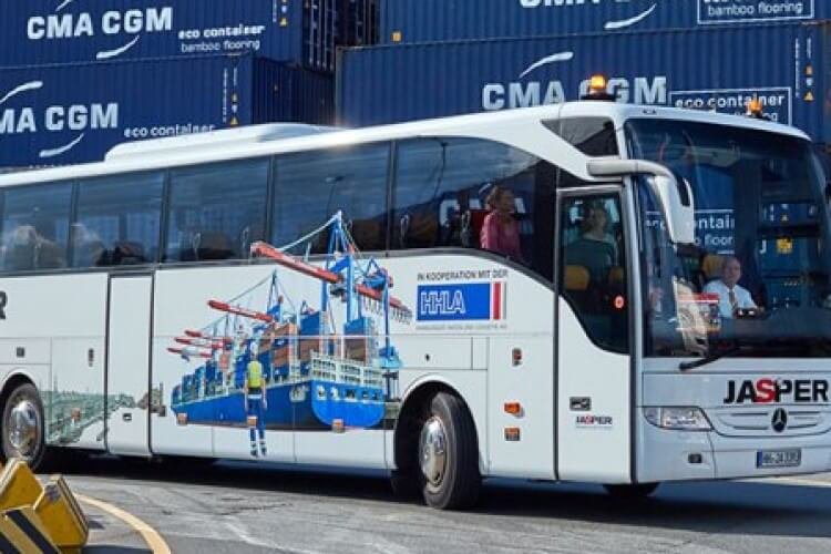 bus hafengelände