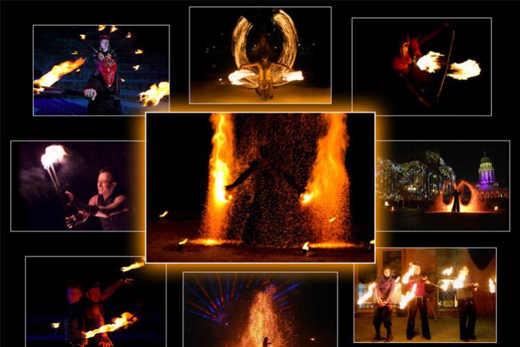 Feuerkünstler Collage