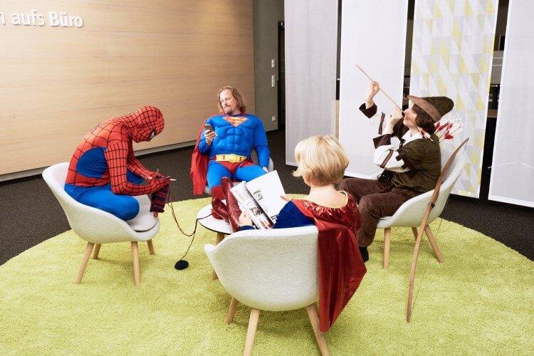 Superhelden im Büro