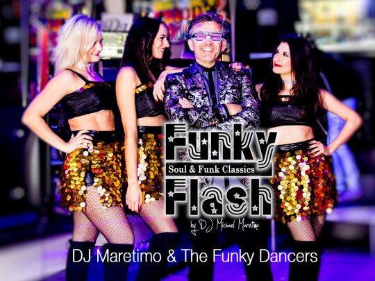 Künstlervermittlung: DJ Maretimo & The Funky Dancers Frankfurt - Künstleragentur | DIE ALLESLÖSER