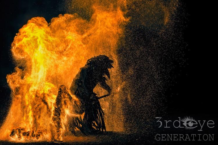 Gestalt im Feuer Pgoto von3rd eye GENERATION