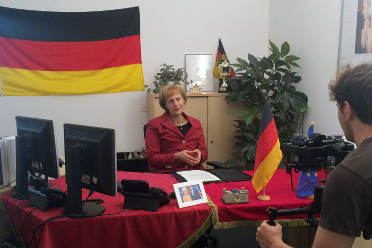 Merkel Parodistin