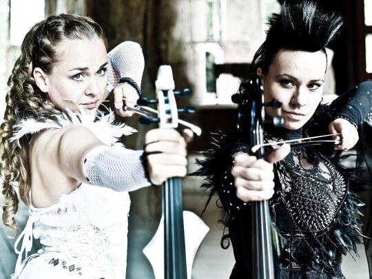 Künstlervermittlung: Angelstrings, Violinen Show, Geigenshow Frankfurt - Künstleragentur | DIE ALLESLÖSER
