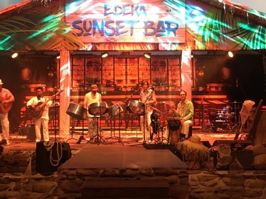 Karibikdekoration Bühne