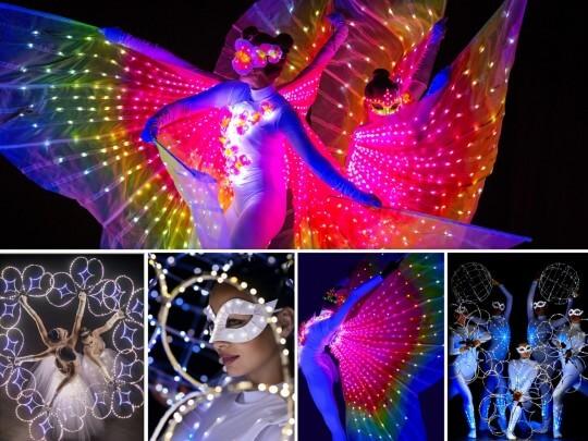 Künstlervermittlung: Z-Show lightshow acts collage Frankfurt - Künstleragentur | DIE ALLESLÖSER