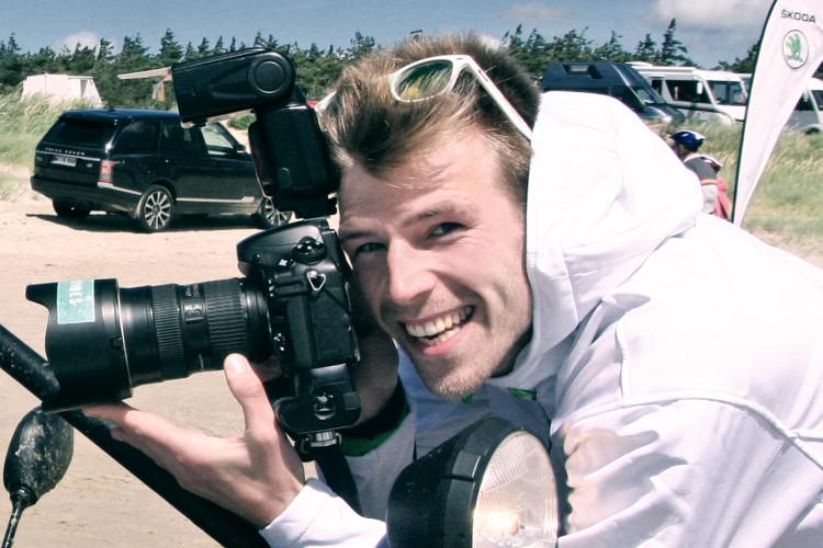 Tobias Hoops mit Kamera
