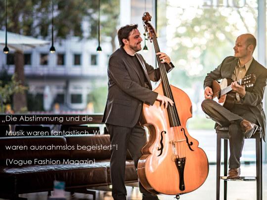 Künstlervermittlung: Jazzlounge-Duo Crowne Plaza Hotel, Neuss Frankfurt - Künstleragentur | DIE ALLESLÖSER