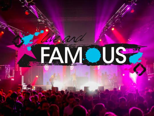 Künstlervermittlung: Live and Famous Logo Frankfurt - Künstleragentur | DIE ALLESLÖSER