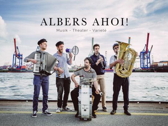Künstlervermittlung: Albers Ahoi-Postkarte 2018 Frankfurt - Künstleragentur | DIE ALLESLÖSER