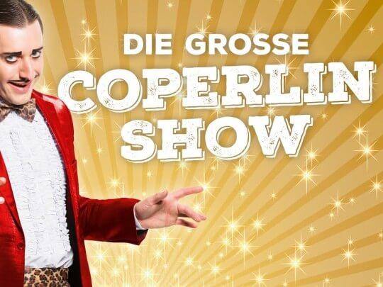 Künstlervermittlung: Dustin Nicolodi die Coperlin-Show Logo Frankfurt - Künstleragentur | DIE ALLESLÖSER