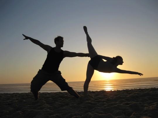 Duo Stahlweich beim Sonnenuntergang